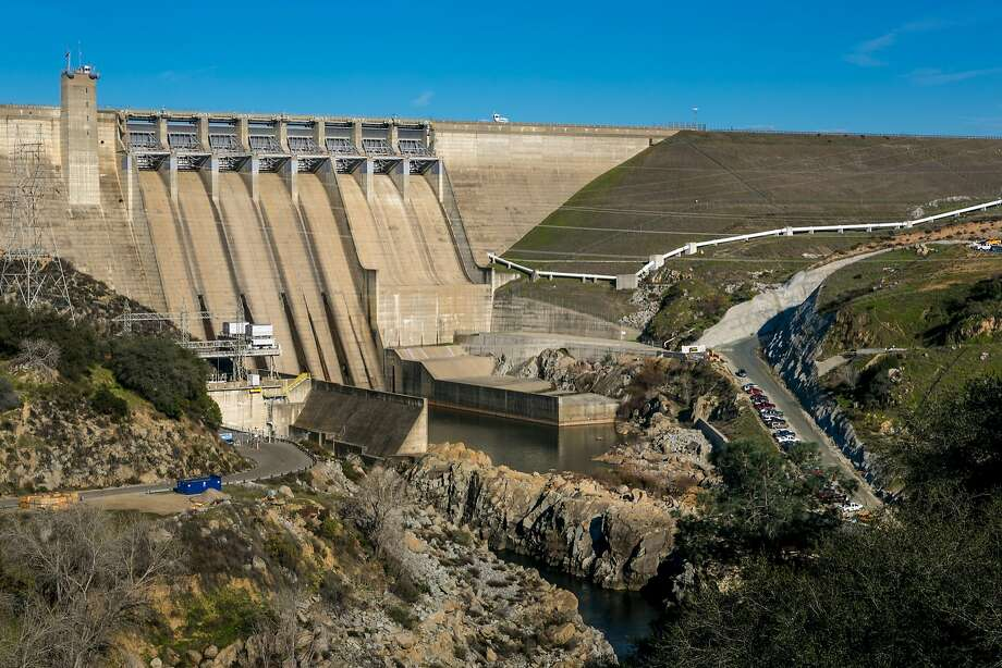 FOLSOM, CA - JANUARY 28:  The dam at Folsom Lake is viewed on January 28, 2015 in Folsom, California. Located just east of downtown Sacramento, this city of 78,000 people is home to Folsom Prison, Intel, and Folsom Lake State Recreational Park. (Photo by George Rose/Getty Images) Photo: George Rose, Getty Images