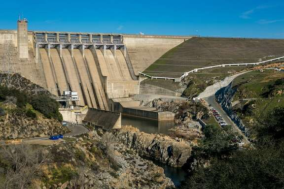 FOLSOM, CA - JANUARY 28:  The dam at Folsom Lake is viewed on January 28, 2015 in Folsom, California. Located just east of downtown Sacramento, this city of 78,000 people is home to Folsom Prison, Intel, and Folsom Lake State Recreational Park. (Photo by George Rose/Getty Images)