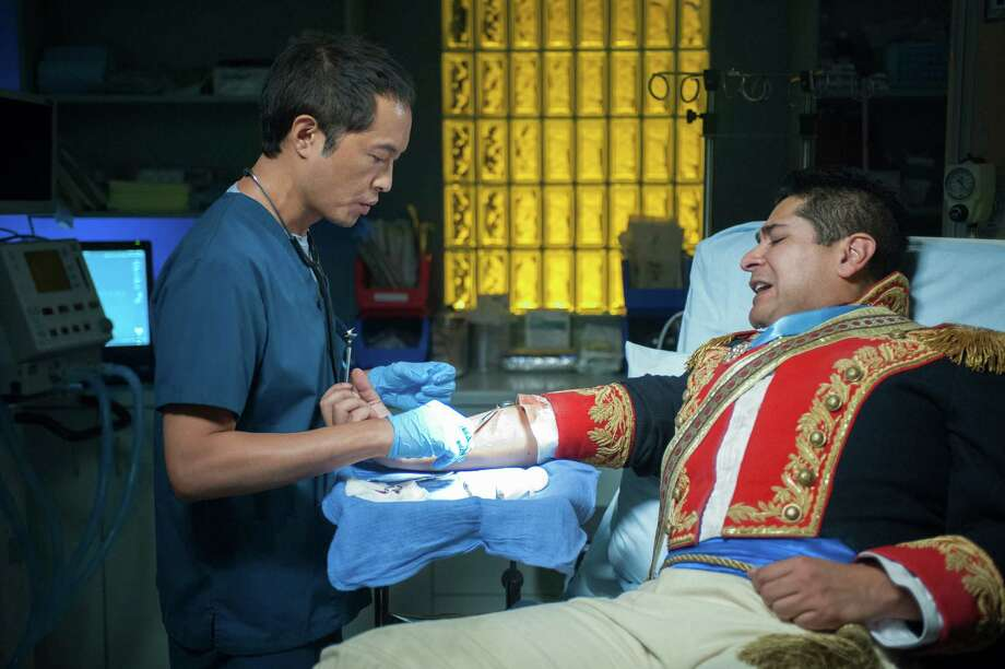 "A Battle of the Alamo re-enactor gets treated on ""The Night Shift"" during Season 2 of the NBC drama. Pictured: Ken Leung as Dr. Topher Zia. 2015 THE NIGHT SHIFT -- ""Grace Under Fire"" Episode 103 -- Pictured: Ken Leung as Topher Zia -- (Photo by: Lewis Jacobs/NBC) Photo: Lewis Jacobs /NBC / NBC / 2013 NBCUniversal Media, LLC"
