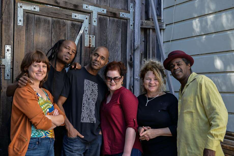 "San Franicsco guitarist,singer and composer David James (second from the left) performs music from his new CD of original music, ""Billionaire Blues,"" Feb. 25 at the Make Out Room with his Good People, Son sextet. Photo: Federico Cusigch"