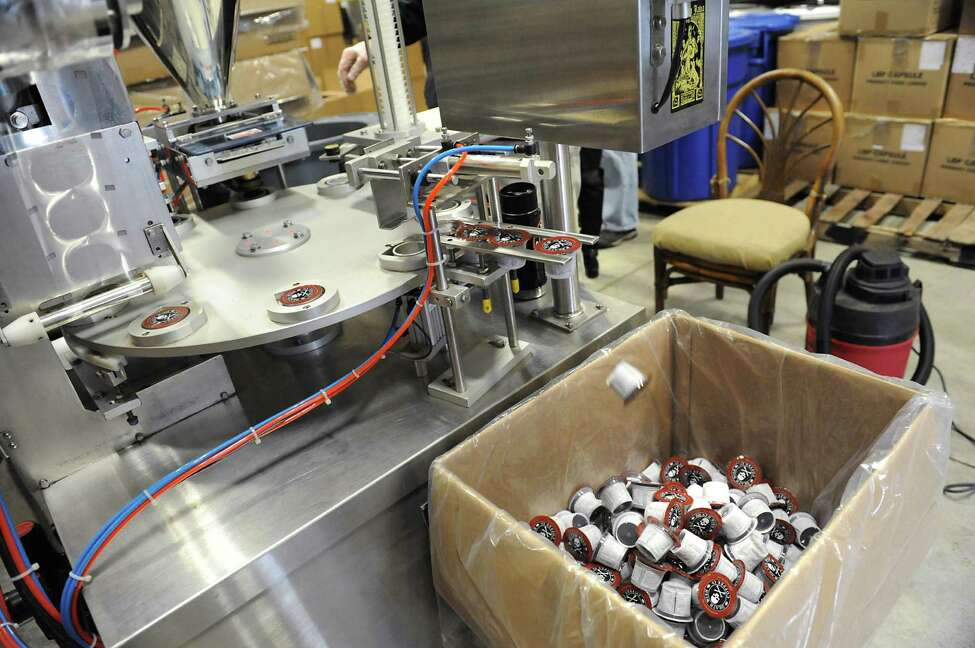 The k-cup machine is seen during a tour Lieutenant Governor Kathy Hochul took of Death Wish Coffee company following their Super Bowl ad debut on Tuesday, Feb. 9, 2016 in Round Lake, N.Y. (Lori Van Buren / Times Union)