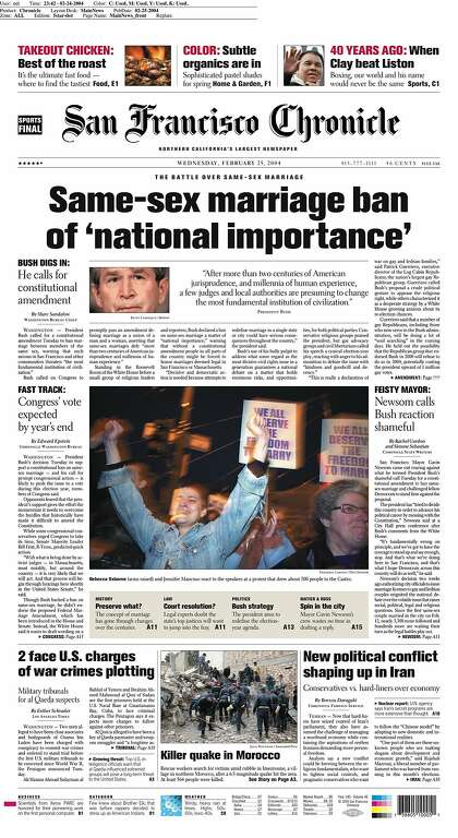 same-sex marriage newspaper article massachusetts