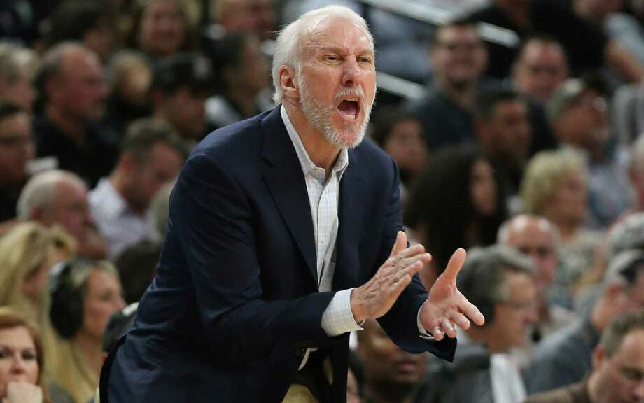 Spurs head coach Gregg Popovich yells to his players during the second half against the Orlando Magic at the AT&T Center on Feb. 1, 2016 Photo: Jerry Lara /San Antonio Express-News / © 2016 San Antonio Express-News