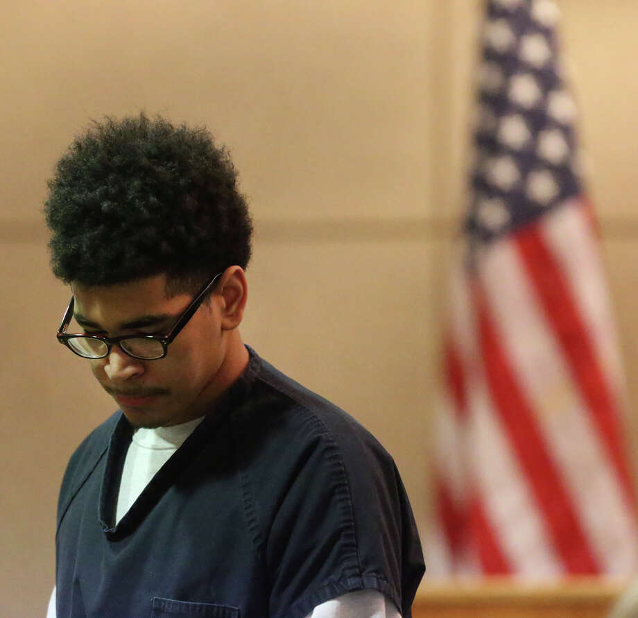 Joshua Joyner,16, appears in the 386th District Court Tuesday February 9, 2016 where he has been certified to stand trial as an adult on a capital murder charge. Joyner has been charged in the July 24, 2015 shooting death of Albert Nelson, 19. Photo: John Davenport, Staff / San Antonio Express-News / ©San Antonio Express-News/John Davenport