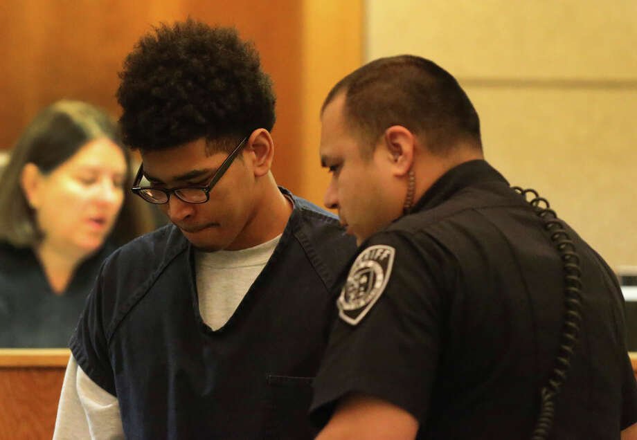 Joshua Joyner, 16, appears in the 386th District Court Tuesday February 9, 2016 where he has been certified to stand trial as an adult on a capital murder charge. Joyner has been charged in the July 24, 2015 shooting death of Albert Nelson, 19. Photo: John Davenport, Staff / San Antonio Express-News / ©San Antonio Express-News/John Davenport