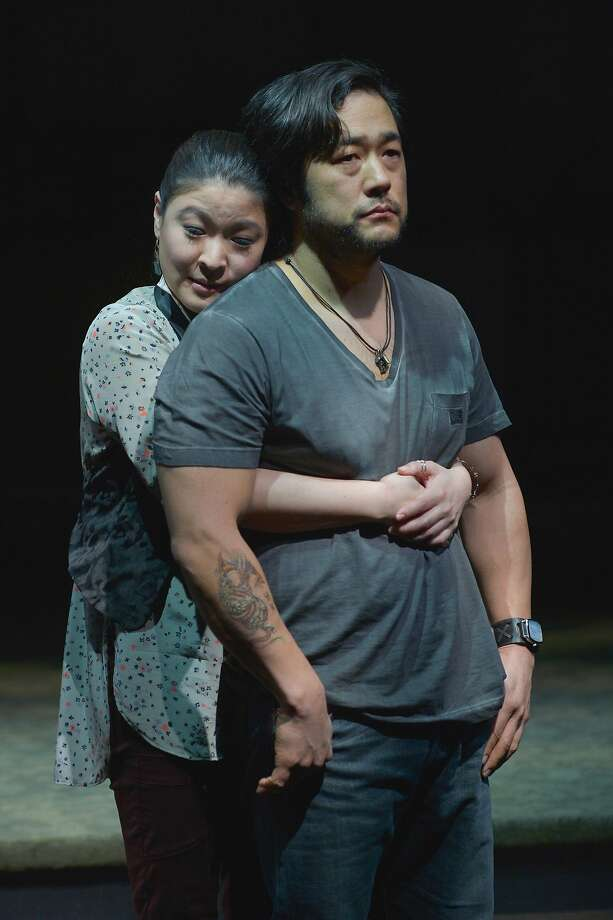 "Tim Kang (right) as Ray and Jennifer Lim as Cornelia in ""Aubergine."" Photo: Kevinberne.com"
