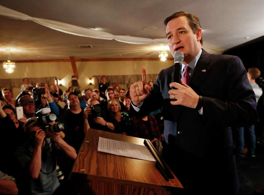 Republican presidential candidate Sen. Ted Cruz, R-Texas, speaks to supporters on primary election night, Tuesday, Feb. 9, 2016, in Hollis, N.H. Photo: Robert F. Bukaty, AP / AP