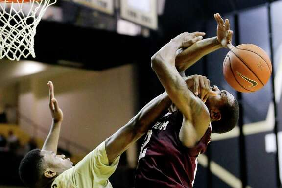 A&M's Jalen Jones has had it rough lately, with his problems extending beyond a hard foul by Vanderbilt's Damian Jones.