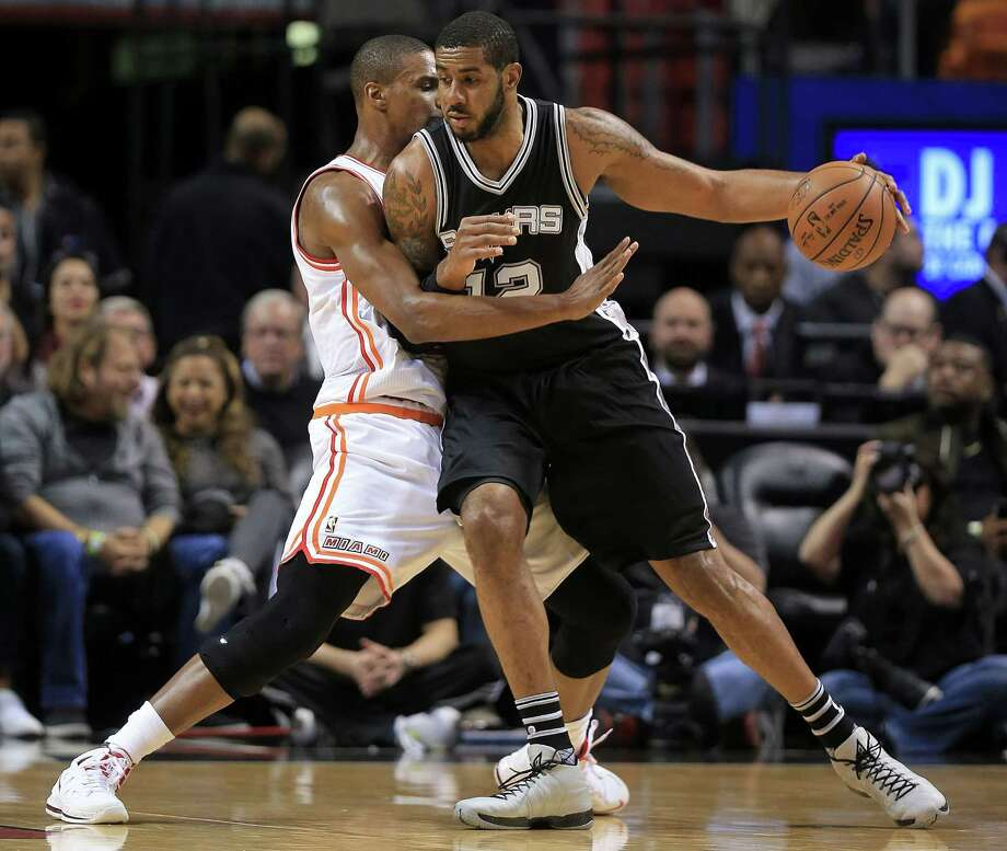 LaMarcus Aldridge is pleased with how the Spurs are playing, but he's determined to win a title. Photo: Mike Ehrmann /Getty Images / 2016 Getty Images