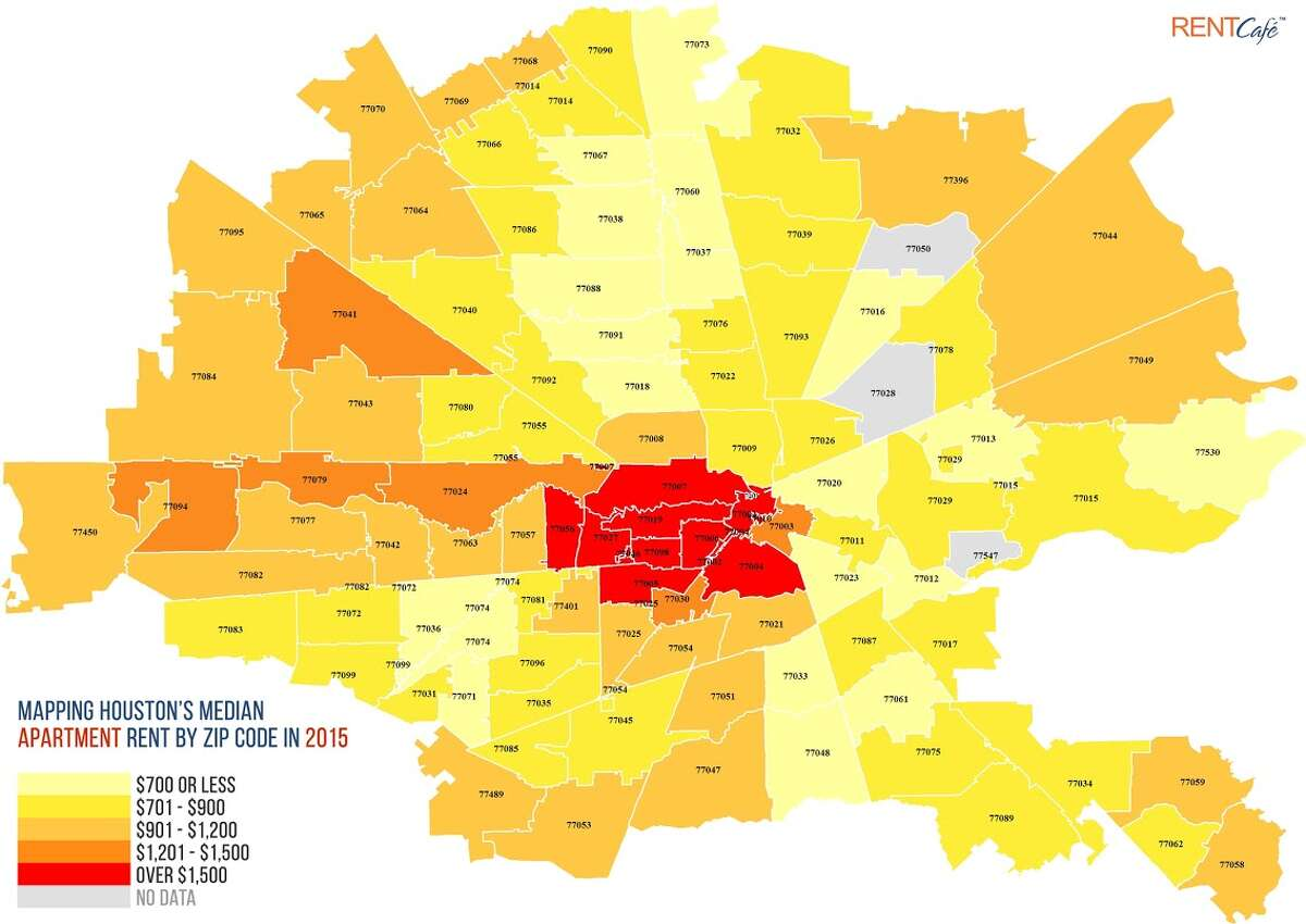 A glance at Houston's rental market by ZIP code. Click to see Houston's ten most expensive ZIP codes to rent an apartment, followed by the least expensive.
