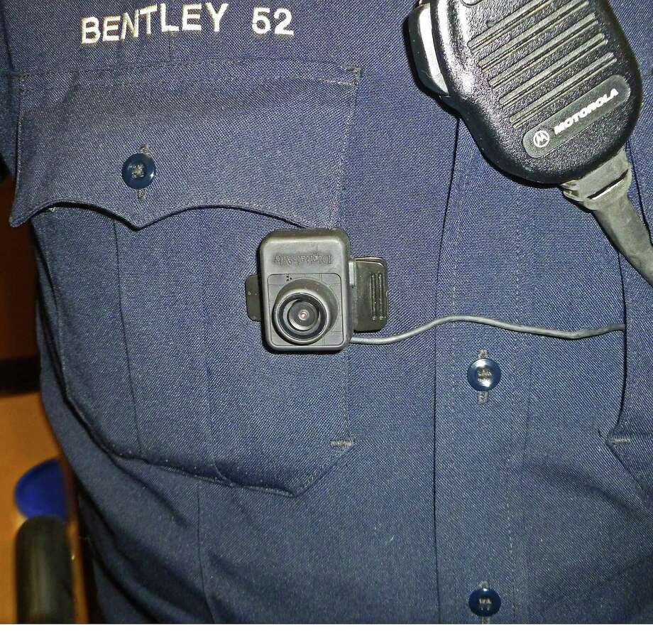 The First Vu HD body cameras used by New Canaan Police officers last year. Darien officials are considering a pilot program before introducing the technology. Photo: Martin Cassidy / Staff Photo / New Canaan News
