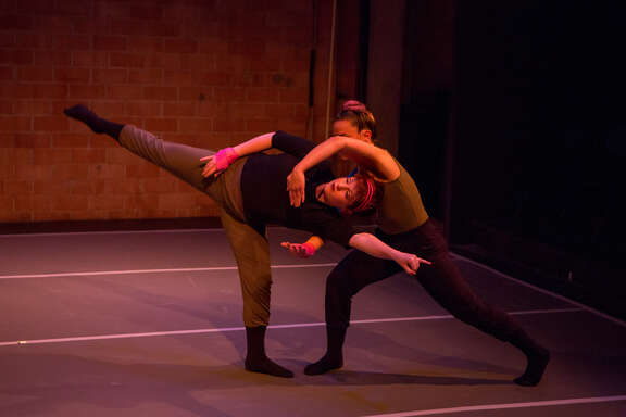 """METdance performs """"Duo,"""" a program of duets, on Valentine's Day weekend at Spring Street Studios."""