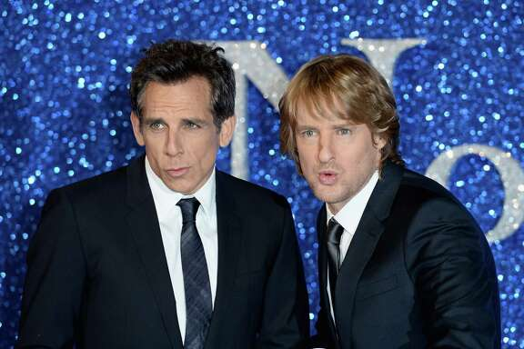 "LONDON, ENGLAND - FEBRUARY 04:  Ben Stiller and Owen Wilson attend a London Fan Screening of the Paramount Pictures film ""Zoolander No. 2"" at Empire Leicester Square on February 4, 2016 in London, England.  (Photo by Jeff Spicer/Getty Images)"