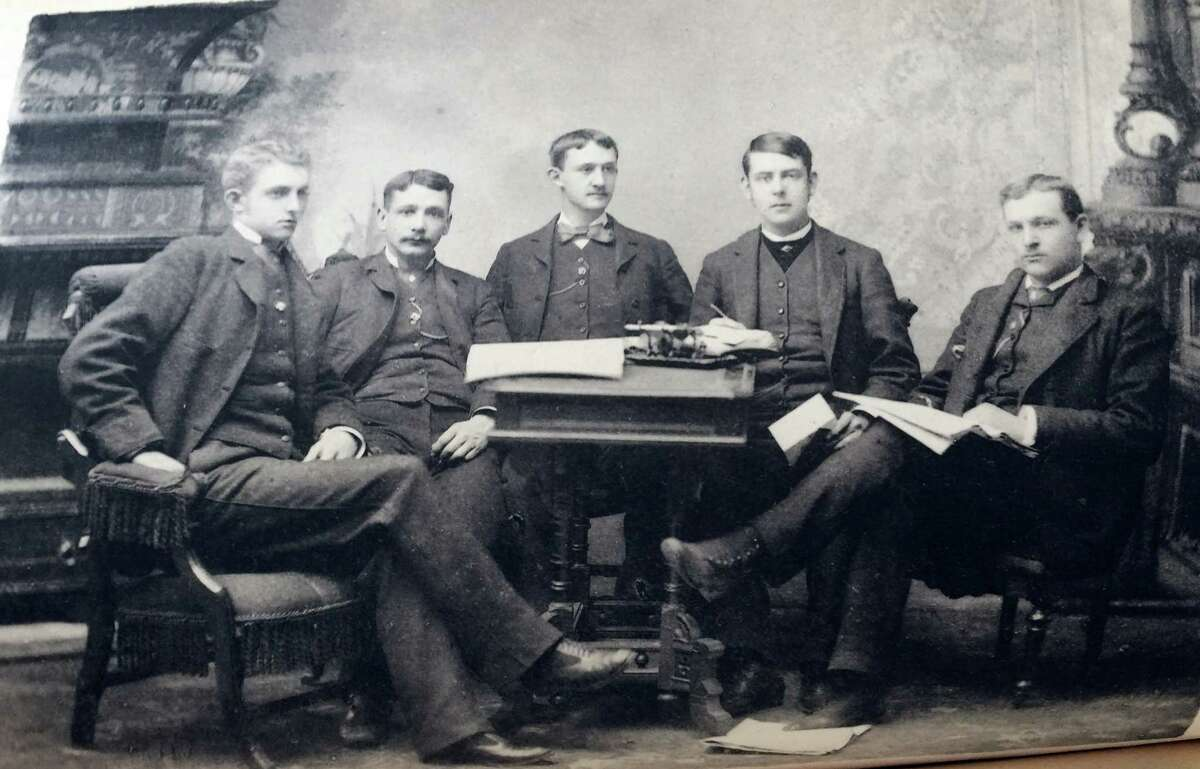 One of the first photos ever used in The Garnet, a group shot of the editors from 1883.