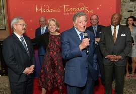 Ed Lee, Charlotte Shultz, Tony Bennett, and Willie Brown
