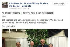Atheist, humanist alternative program to church sees record-breaking attendance rate at Lackland AFB - Photo