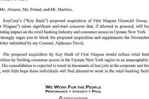 KeyBank: We'll work with Cuomo on merger concerns - Photo
