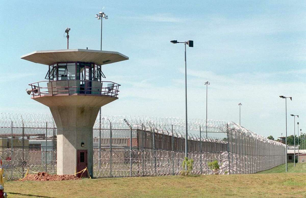 One of the guard houses at the Northern Correctional Institution in Somers, Conn.