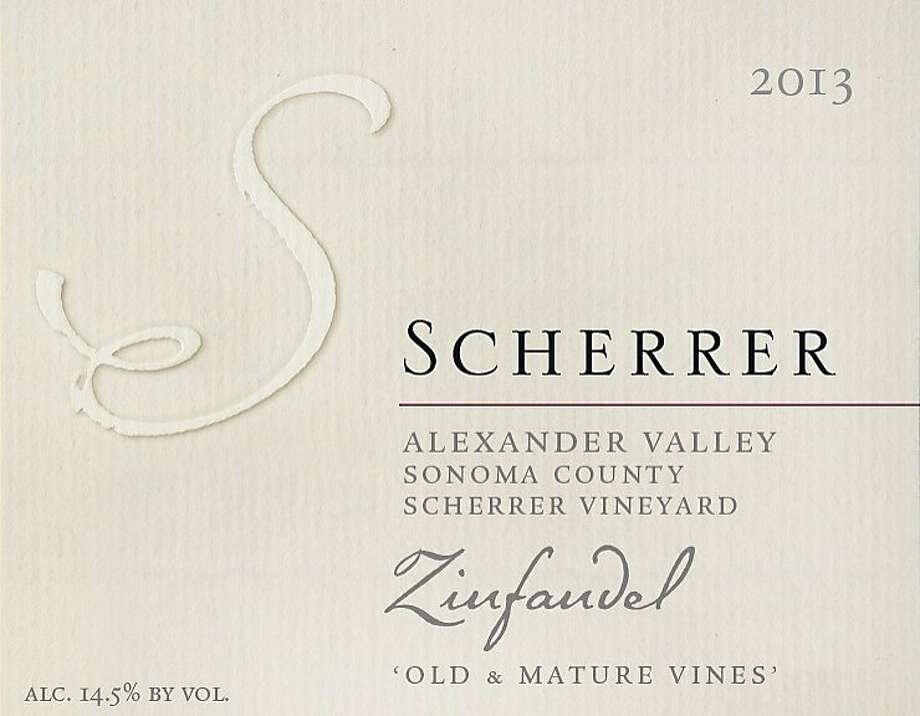 "Scherrer ""Old and Mature Vines"" Zinfandel Scherrer Vineyard Alexander Valley 2013"