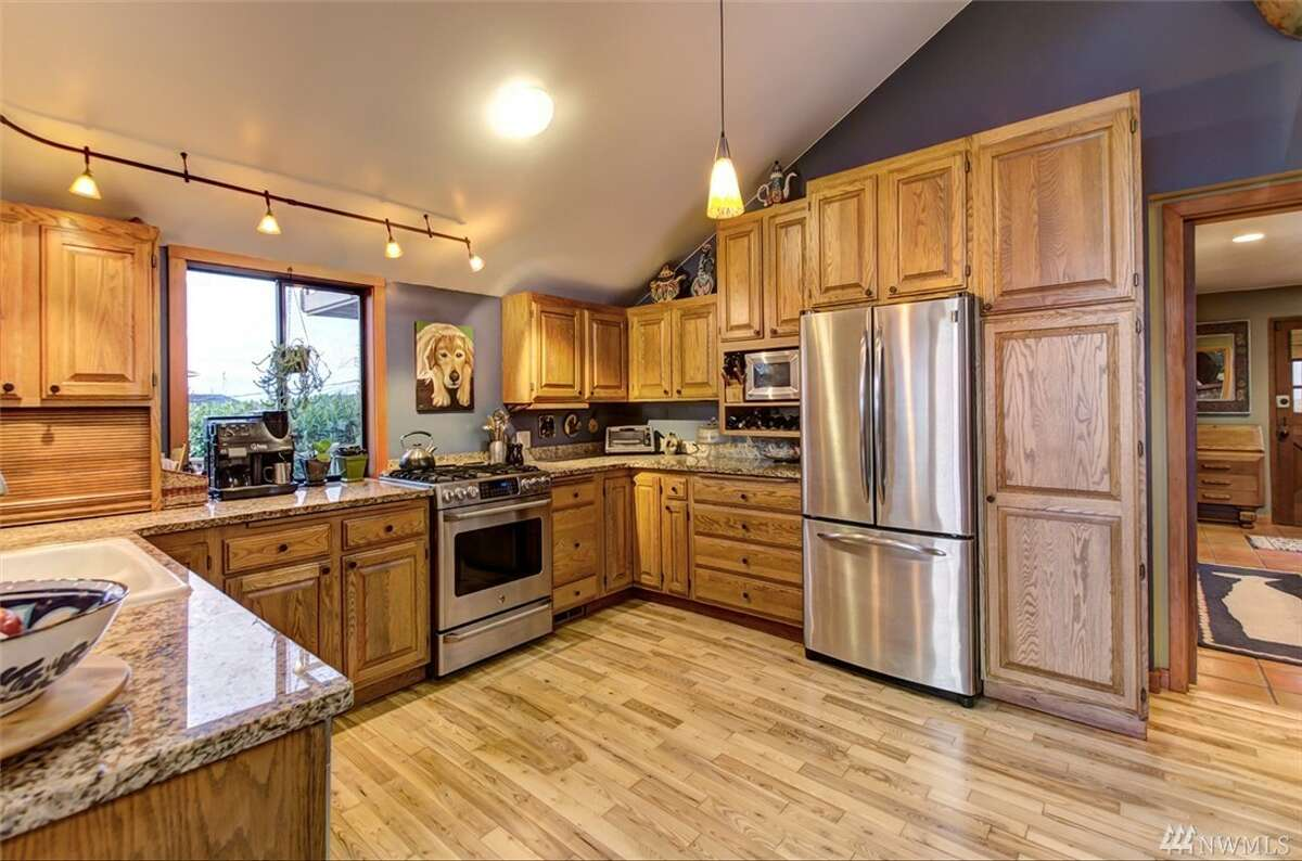 The kitchen has been completely remodeled