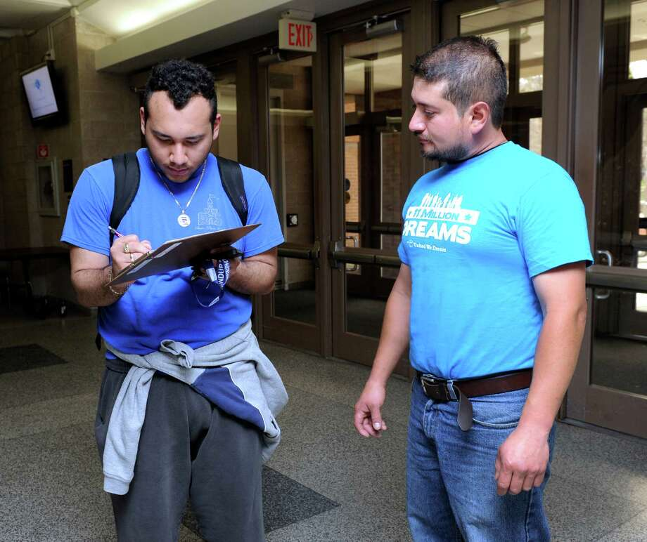 "Edgardo Perez-Cabrera, right, petitioned Western Connecticut State University in 2014 for support for ""dreamers."" Photo: Carol Kaliff / Carol Kaliff / The News-Times"
