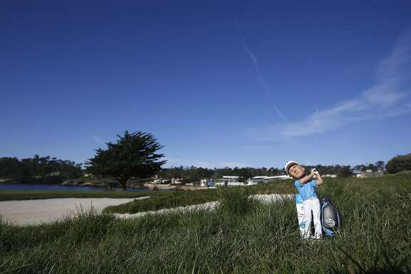 PEBBLE BEACH, CA - FEBRUARY 10:  A Jordan Spieth bobblehead doll is displayed on the 18th hole during practice for the AT&T Pebble Beach National Pro-Am at Pebble Beach Golf Links  on February 10, 2016 in Pebble Beach, California.  (Photo by Todd Warshaw/Getty Images)