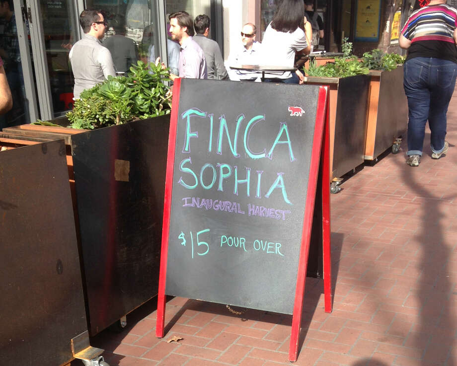 Equator Coffee's Market Street location offers up $15 Finca Sophia.