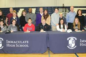 Mustangs on the move: Immaculate High School athletes make their college plans official - Photo