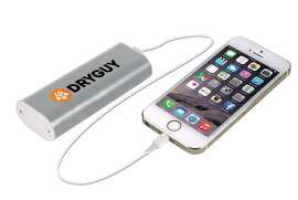The Dry Guy Warm N' Charge gives approximately two full charges to most smart phones, and can be recharged by micro USB cable more than 500 times.