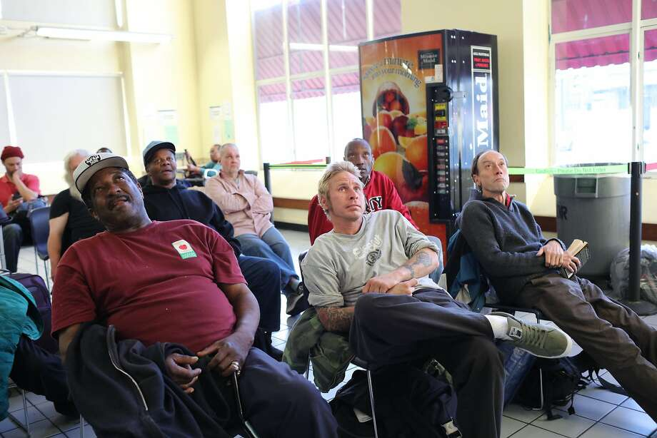 Jim Harding (far right) and others 