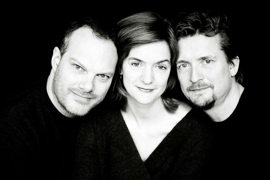The Tetzlaff Trio: pianist Lars Vogt (left), cellist Tanja Tetzlaff and violinist Christian Tetzlaff. Photo: SF Performances