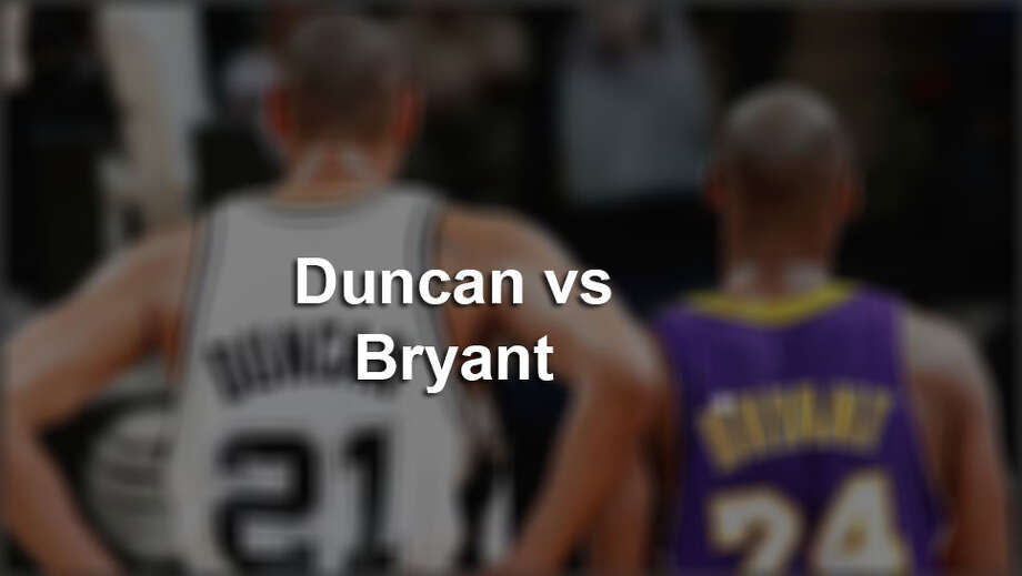How Kobe Bryant's record compares to Tim Duncan's.