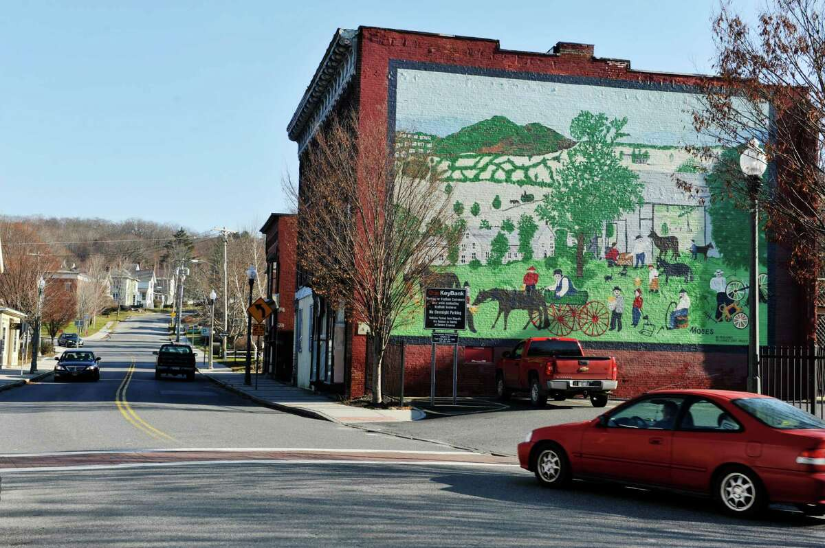 A view looking along Route 22 on Wednesday, Nov. 25, 2015, in downtown Hoosick Falls, N.Y. (Paul Buckowski / Times Union)