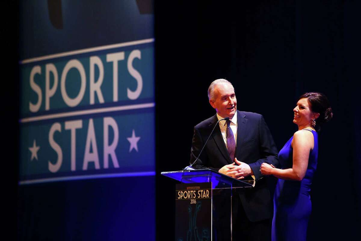 Steve Raible and Jen Mueller host the 2016 MTRWestern Sport Star of the Year Awards, which honors local athletes Wednesday, Feb. 10, 2016 at the Paramount Theater.