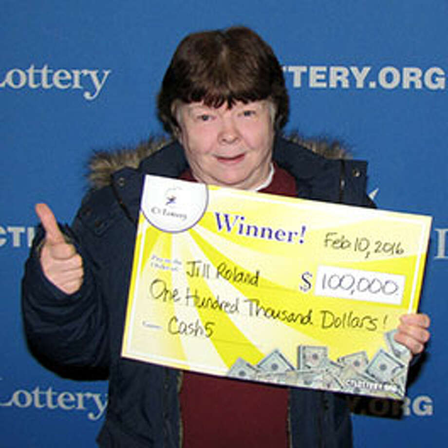 Jill Roland, of Naugatuck, was in no hurry to make herself $100,000 richer. First, after watching the CT Lottery Nov. 6 Cash5 drawing, she didn't even bother to check her tickets. And after finally checking her tickets and discovering she had won $100,000 she waited three months to cash in her winning ticket. Photo: CT Lottery Photo