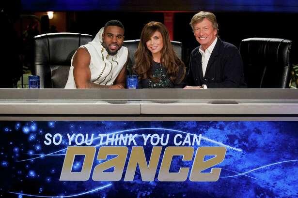 SO YOU THINK YOU CAN DANCE: New judges Jason Derulo (L) and Paula Abdul (M) join Nigel Lythgoe (R) for the 12th season of SO YOU THINK YOU CAN DANCE premiering summer 2015 on FOX. ©2015 Fox Broadcasting Co. CR: Jeffrey Neira/FOX