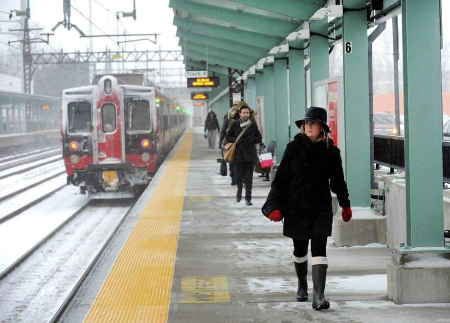 On a cold day with fresh snow on the ground Metro-North reported delays into Grand Central Terminal because of a disabled train in Fordam on Thursday, Feb. 11, 2016. Photo: Cathy Zuraw / Cathy Zuraw / Connecticut Post