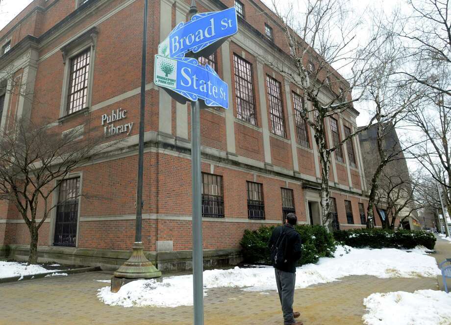 Burroughs-Saden Library, the main branch of  Bridgeport Public Library on 925 Broad St. in Bridgeport, Conn. Photo: Cathy Zuraw / Hearst Connecticut Media / Connecticut Post