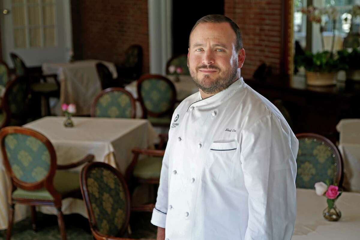 Executive Chef Neal Cox at The Manor House at the Houstonian Thursday, Feb. 4, 2016, in Houston, Texas. The Manor House, a historic John Staub landmark, is a private venue for guests of the Houstonian Hotel and members of the Houstonian Club. But this month the hotel has decided to open it to the public for lunch. And in March it is marking the venue's 30th anniversary with a special menu.