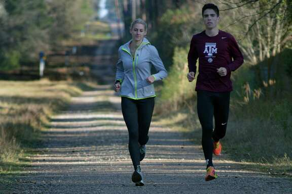 Samantha McClellan, left, and Ryan Miller are two of the elite runners from the area who will be trying to make the U.S. Olympic team Saturday.