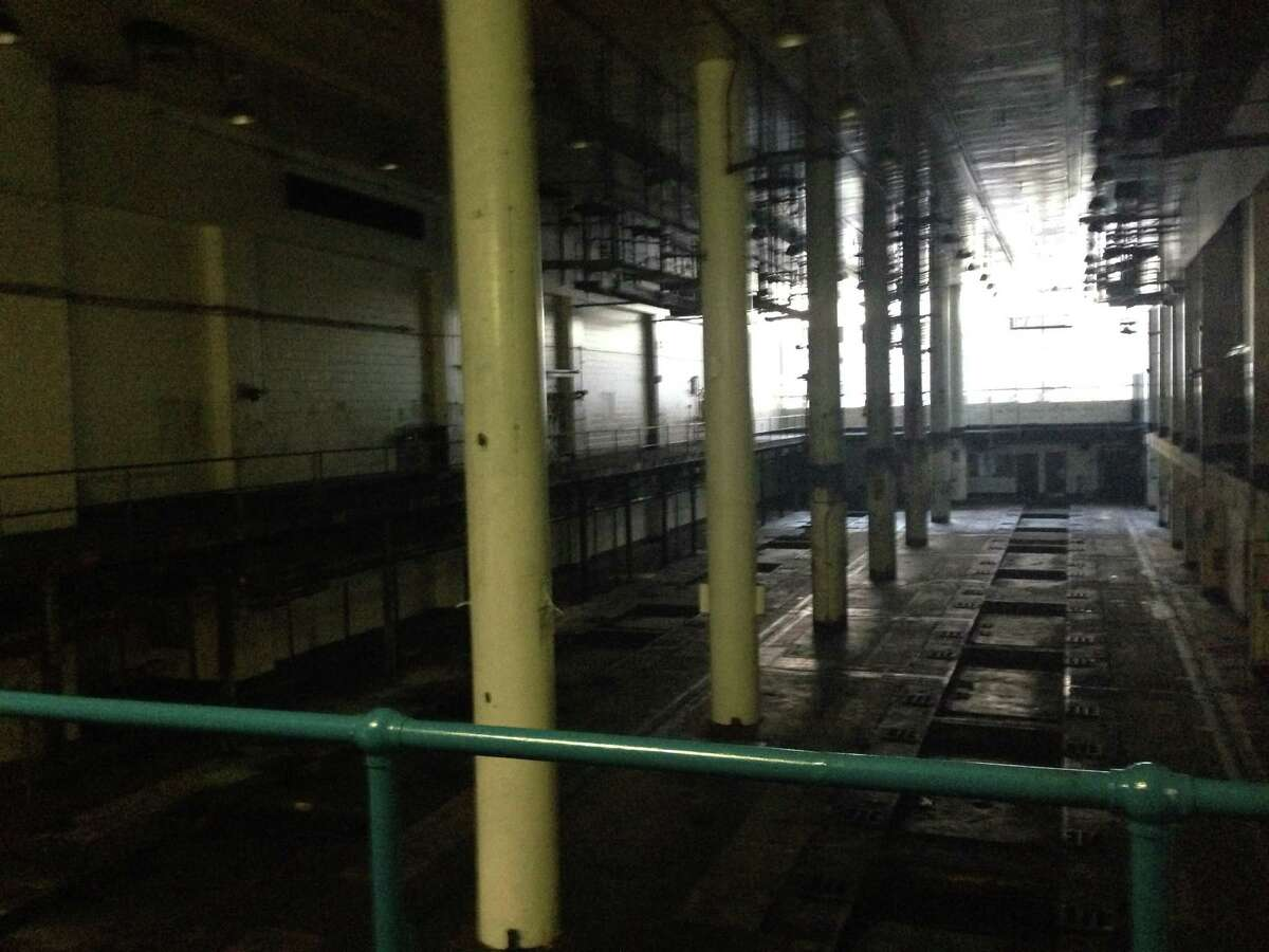 The enormous room where the Chronicle's presses used to be. It still smells like ink.