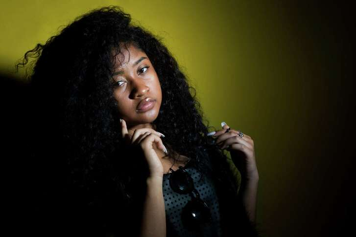 """Young Lyric, 15 year-old Hip Hop Princess and Internet Sensation from Houston, Texas, has over 25 million views on YouTube and WorldStarHipHop and can now be seen every Friday night on Lifetime's new hit reality TV show """"The Rap Game"""" produced by Jermaine Dupri and Queen Latifah. Tuesday, Feb. 2, 2016, in Houston. ( Marie D. De Jesus / Houston Chronicle )"""