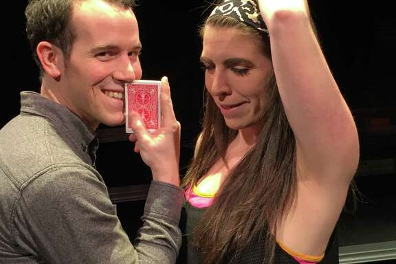 """James Monaghan and Robin Van Zandt star in """"52 Pick Up"""" at Theater LaB Houston. """""""