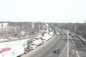 I-95 tractor-trailer accident closes lanes - Photo