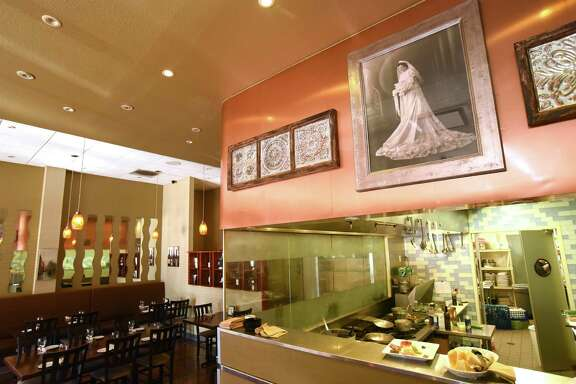 A portrait of Julia Paparella, grandmother of Chef Andrew Paparella Jr. at Rossini Italian Bistro