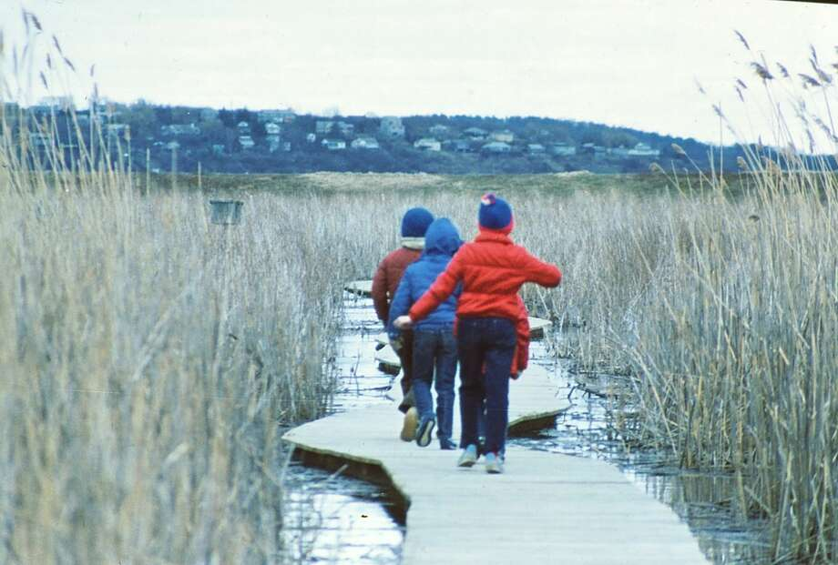 Outdoors writer Gillian Scott with her brother, back, and a cousin at the Parker River National Wildlife Refuge in 1984. (G. Eric Scott / Special to the Times Union) Photo: Picasa
