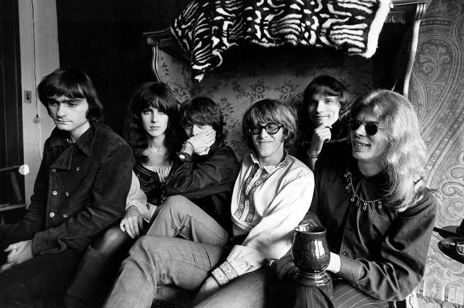 FILE - In this March 8, 1968 file photo, members of the rock group Jefferson Airplane pose for a photograph in San Francisco.  From left, Marty Balin, Grace Slick, Spencer Dryden, Paul Kantner, Jorma Kaukonen, and Jack Casady. Kantner died at a San Francisco hospital on Thursday, Jan. 28, 2016 after falling ill earlier in the week, former girlfriend and publicist Cynthia Bowman told The Associated Press.  (AP Photo) Photo: Associated Press
