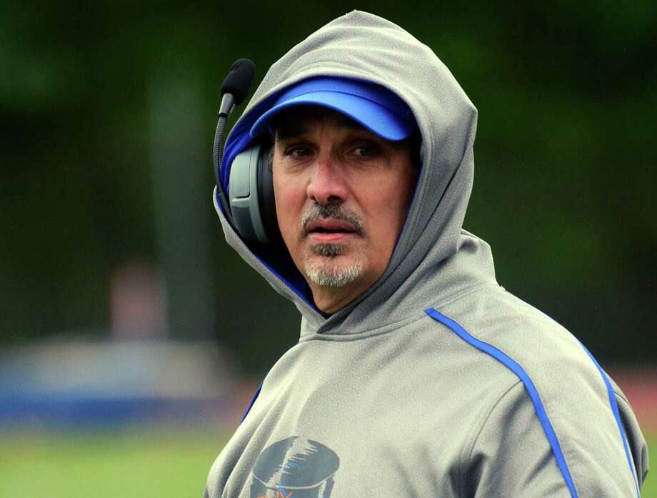 FILE PHOTO: Danbury Head Coach Alex Trasacco during high school football action against St. Joseph in Trumbull, Conn., on Saturday October 3, 2015. Photo: Christian Abraham / Hearst Connecticut Media / Connecticut Post