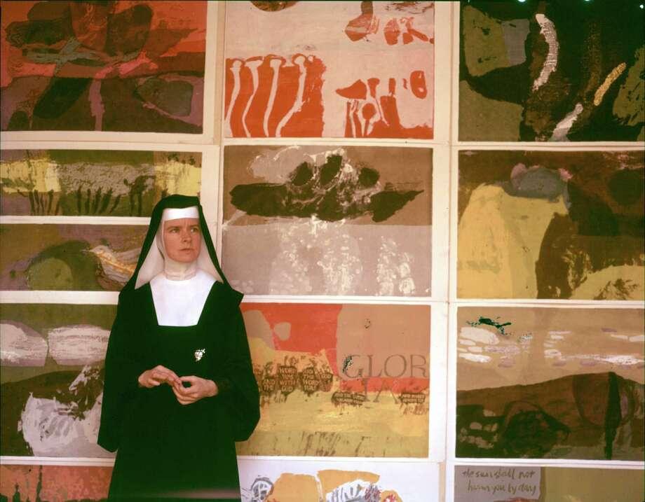 Corita Kent at a 1964 exhibit of her work Photo: Courtesy /San Antonio Museum Of Art