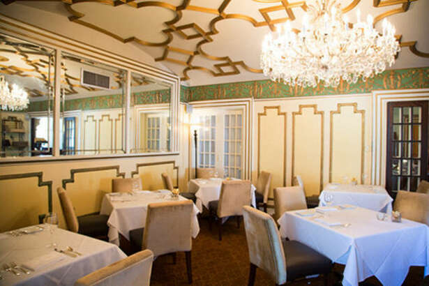 The Dome Room at Restaurant Cinq. The fine dining restaurant is in La Colombe d'Or Hotel, 3410 Montrose, Houston.